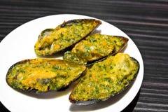 Bakade musslor Royaltyfria Foton