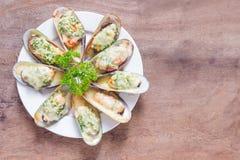 bakade musslor New Zealand Fotografering för Bildbyråer