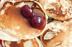 bakade nytt pannkakor Arkivbild