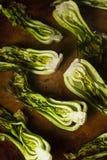 Bakade organiska behandla som ett barn Bok Choy Arkivbild