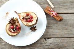 bakade pears royaltyfri fotografi