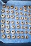 Bakade sockerrullar, läckert och frasigt Fotografering för Bildbyråer
