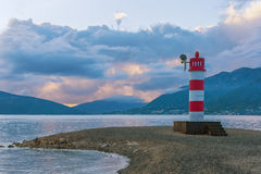 Bakan na wybrzeżu zatoka Kotor Montenegro Zdjęcia Stock