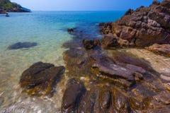 Rocky beach. Lanta. Bakantiang Nui Bamboo Bay, Krabi, Thailand stock photos