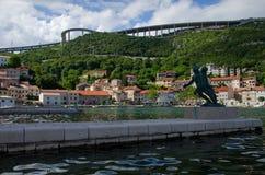 Bakar,克罗地亚, 2016年5月31日, Bakar市, Croa社论照片  免版税库存图片