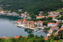 Bakar in Croatia. Bakar - seaside touristic town near Rijeka in Croatia Stock Images