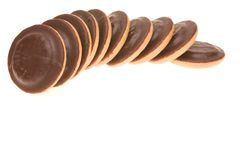 bakar ihop choklad arkivbild