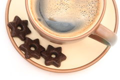 bakar ihop kaffe Royaltyfri Fotografi