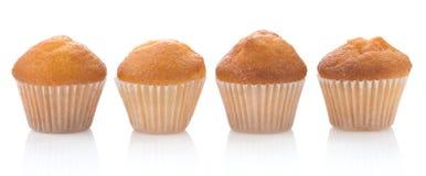 bakar ihop muffinwhite arkivbild