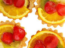 bakar ihop white för platta två för foto för Cherryhörn fyra citronen lokaliserad Arkivbild