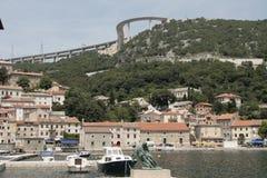 Bakar, kroatische Stadt in adriatischem Meer Lizenzfreies Stockfoto