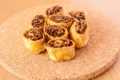 Bakarwadi, een gebraden snack van het de lentebroodje, populair in Maharashtra royalty-vrije stock afbeelding