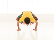 Bakasana front view Royalty Free Stock Photo