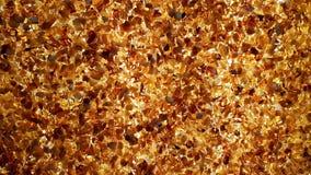 Bakbelyst bärnstensfärgad vägg lager videofilmer