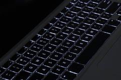 bakbelyst tangentbord Fotografering för Bildbyråer