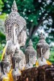 Bakbuddha staty royaltyfria bilder