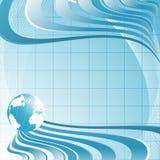 Bakcground astratto con il globo illustrazione di stock