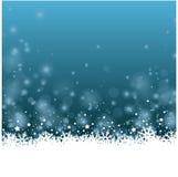 Bakcground bleu merveilleux de fleur de glace de Noël avec des étoiles Photo stock