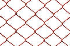Bakcground branco isolado do metal rede vermelha Fotografia de Stock Royalty Free