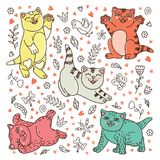 Bakcground con los gatitos lindos Foto de archivo