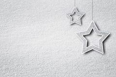Bakcground de cristal artístico de la nieve de la forma de la estrella de Navidad del efecto Foto de archivo libre de regalías