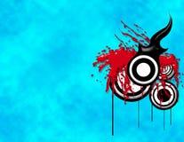 Bakcground de Grunge no azul Imagem de Stock