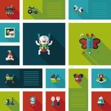 Комплект bakcground ui младенца плоский Стоковые Фотографии RF