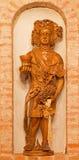 Bakchus rzeźbił statuę od wnętrza wino loch Zdjęcia Royalty Free