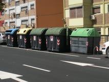 Bakcontainers in Saragossa, Spanje Royalty-vrije Stock Afbeeldingen