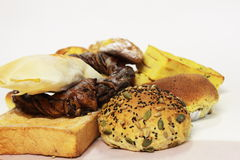 Bake assorted breads Royalty Free Stock Photography