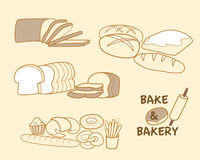 Bake and Bakery. Various types of bake and bakery Royalty Free Stock Photography