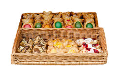 Bake in a basket for Easter Royalty Free Stock Photo