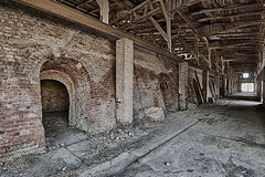 Bake in a brick factory Royalty Free Stock Photography