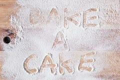 Bake a cake Royalty Free Stock Photos
