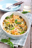 Bake. Cauliflower, broccoli and pasta bake stock photos