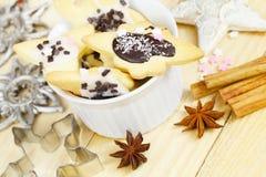 Bake Christmas cookies Royalty Free Stock Image