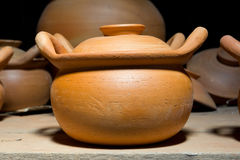 Bake clay pot Royalty Free Stock Images