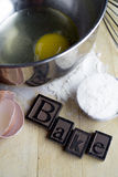 Bake with ingredients Stock Photos