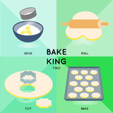 BAKE KING Two Stock Images