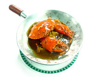 Bake mud crab in classerole Stock Photography