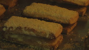 Bake in the oven pastry. Sandwich stock footage