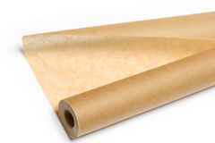 Bake paper. Isolated on the white background Royalty Free Stock Images