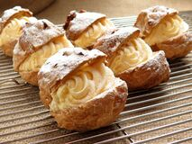 Bake Pastries With White Cream Fillings Stock Image