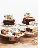 Bake Pastry on Short-stem Cake Tray Stock Images