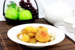 Bake potato with rosemary royalty free stock photos