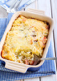 Bake. Rice, zucchini and bacon bake royalty free stock photos