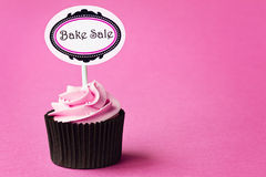Bake sale cupcake. With space for copy stock photography