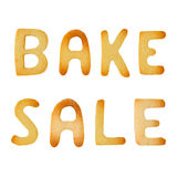 Bake sale sign. Made of cookies isolated on white background Royalty Free Stock Photo