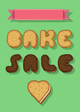 Bake Sale. Text by Sweet Cookies Font stock photography