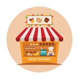 Bake shop or baking store vector concept Stock Images